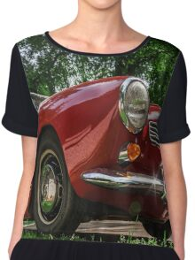 Beautiful retro car renovated with love, style and power Chiffon Top