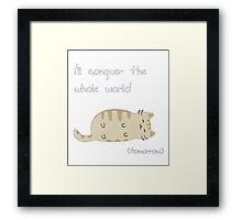 lazy cat  Framed Print