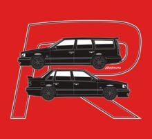 Volvo 850R T5-R Swedish Turbo Black Outline One Piece - Short Sleeve