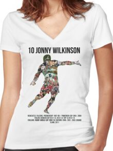 Jonny Wilkinson Tribute  Women's Fitted V-Neck T-Shirt