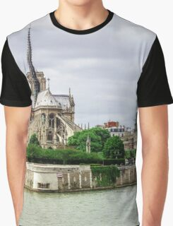 Editorial,13th May 2016:  Paris, France. Traditional Paris street view, France Graphic T-Shirt