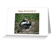 Puffin Love - Happy Anniversary Greeting Card