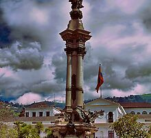 Ecuador. Quito. Plaza de la Independencia. Monument. by vadim19