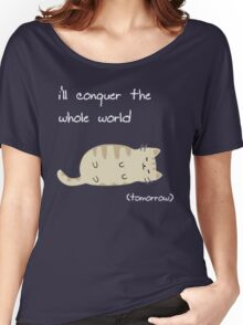 lazy cat  Women's Relaxed Fit T-Shirt