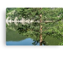 Summer in the Mountains - Forest Lakes and Pine Trees Beauty Canvas Print