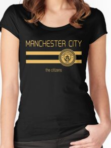 EPL 2016 - Football - Manchester City (Away Black) Women's Fitted Scoop T-Shirt