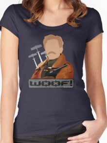 Lord Flashheart 'Woof' design Women's Fitted Scoop T-Shirt