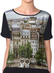 Editorial,13th May 2016:  Paris, France. Traditional Paris street view, France Chiffon Top
