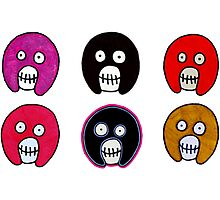Mighty Boosh skulls Photographic Print