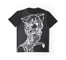 White Cat Girl Graphic T-Shirt