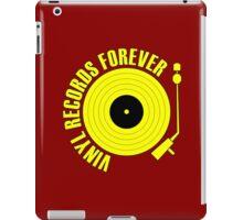 vinyl record yellow iPad Case/Skin