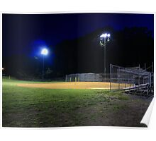 Night Baseball Poster