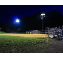 Night Baseball Photographic Print