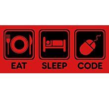 Programmer Eat Sleep Code Photographic Print