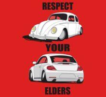Respect your Elders-White Ink Baby Tee