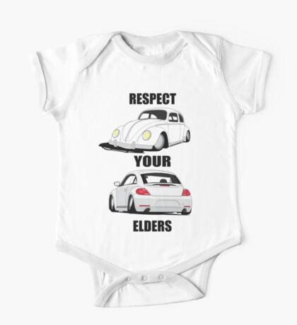 Respect your Elders-White Ink One Piece - Short Sleeve