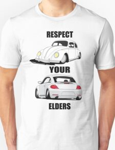 Respect your Elders-White Ink T-Shirt