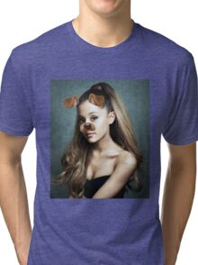 Ariana Grande - Snapchat Puppy Filter Tri-blend T-Shirt