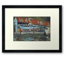 Dartside Quay Boatyard Framed Print