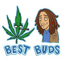 Best Buds Stoner Edition Photographic Print