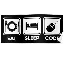 Programmer Eat Sleep Code Poster
