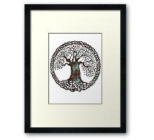 TREE OF LIFE - aqua grunge Framed Print