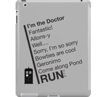 Catchphrases by the Doctor iPad Case/Skin