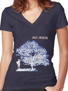 Jack Johnson Tee Women's Fitted V-Neck T-Shirt