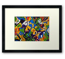 Tea for Two Abstract by Heather Holland  Framed Print
