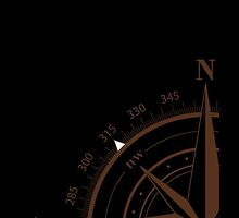 True North Nautical Compass by RoughCutErik