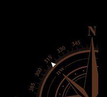 True North Nautical Compass by Erik  Coleman