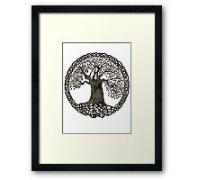 TREE OF LIFE - black grunge Framed Print