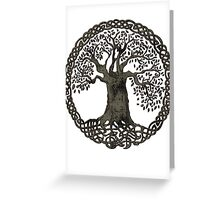 TREE OF LIFE - black grunge Greeting Card