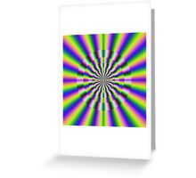 Psychedelic Circular Deviation Greeting Card