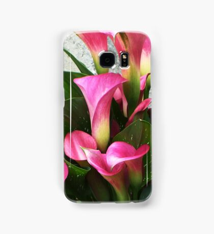 Lovely Pink Calla Lillies  Samsung Galaxy Case/Skin