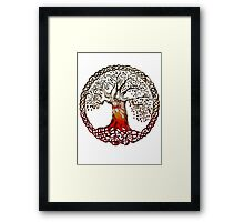 TREE OF LIFE - blood daisies Framed Print