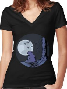 Light of the Moon #2 Women's Fitted V-Neck T-Shirt