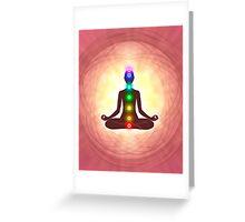 Chakra Meditation Print Greeting Card