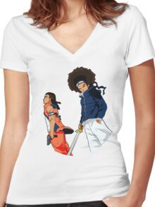 Huey & Riley: The Ninja Way (redesign) Women's Fitted V-Neck T-Shirt