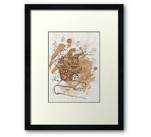 coffee on coffee Framed Print