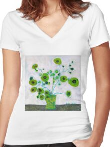 In Seattle Women's Fitted V-Neck T-Shirt