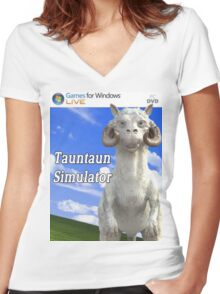 Tauntaun Simulator Women's Fitted V-Neck T-Shirt