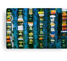 Vintage electronic board Canvas Print