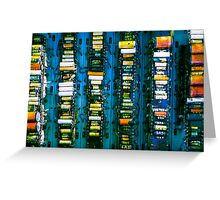 Vintage electronic board Greeting Card