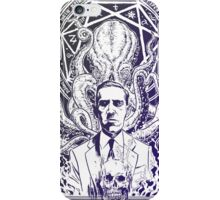 Cthulhu Howard Phillips Lovecraft HP historical society pruple iPhone Case/Skin