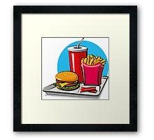 Fast food! Do you like it? Framed Print