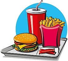 Fast food! Do you like it? Photographic Print