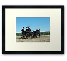 That Carriage Ride on Sunday Morning... Framed Print