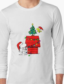 Snoopy and Woodstock Christmas Tree Long Sleeve T-Shirt