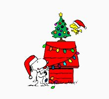 Snoopy and Woodstock Christmas Tree Unisex T-Shirt